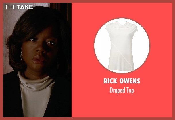 Rick Owens white top from How To Get Away With Murder seen with Annalise Keating (Viola Davis)