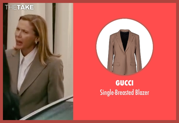 Gucci beige blazer from The Women seen with Annette Bening (Sylvie Fowler)