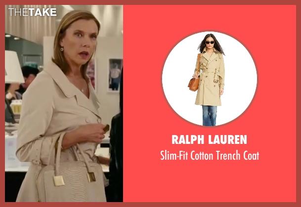 Ralph Lauren beige coat from The Women seen with Annette Bening (Sylvie Fowler)