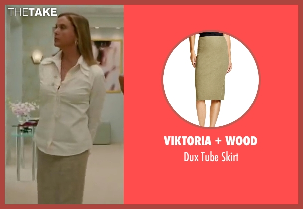 Viktoria + Wood beige skirt from The Women seen with Annette Bening (Sylvie Fowler)