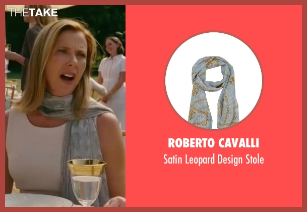 Roberto Cavalli blue stole from The Women seen with Annette Bening (Sylvie Fowler)