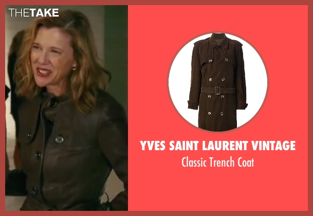 Yves Saint Laurent Vintage brown coat from The Women seen with Annette Bening (Sylvie Fowler)