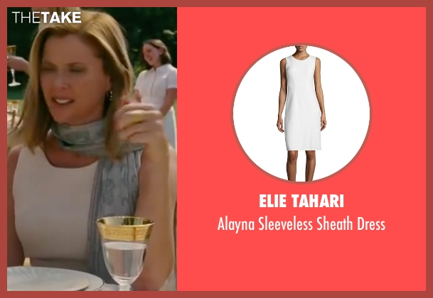 Elie Tahari white dress from The Women seen with Annette Bening (Sylvie Fowler)