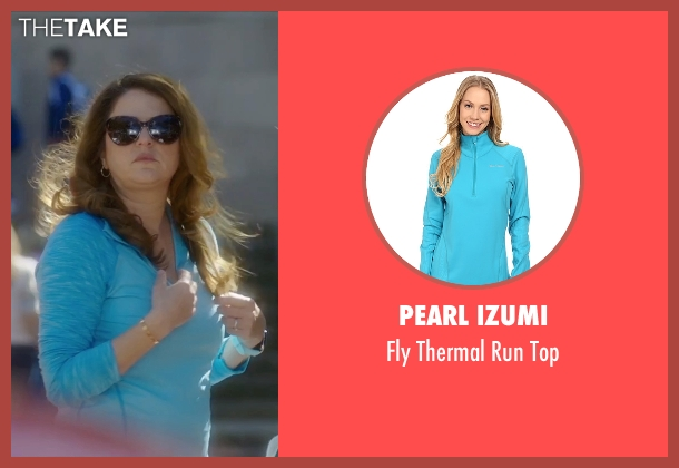 Pearl Izumi blue top from Bad Moms seen with Annie Mumolo (Vicky)