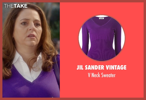 Jil Sander Vintage purple sweater from Bad Moms seen with Annie Mumolo (Vicky)