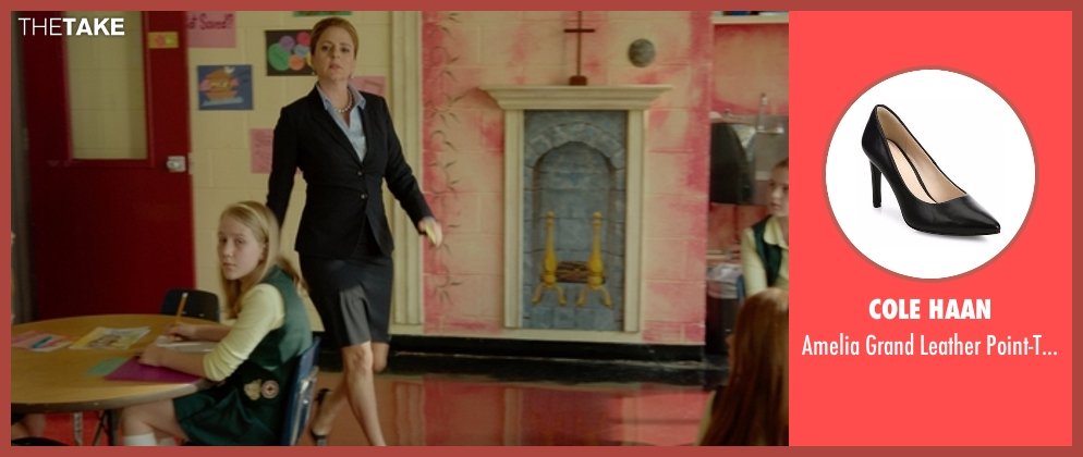 Cole Haan black pumps from The Boss seen with Annie Mumolo (Helen)