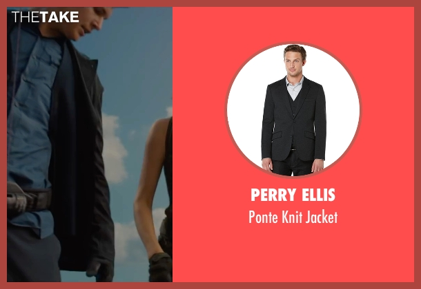 Perry Ellis black jacket from The Divergent Series: Allegiant seen with Ansel Elgort (Caleb Prior )