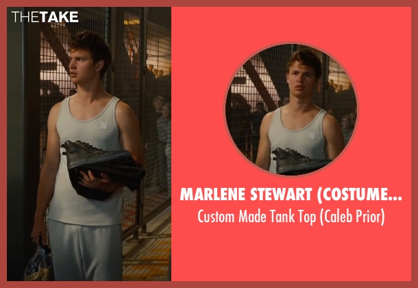 Marlene Stewart (Costume Designer) white top from The Divergent Series: Allegiant seen with Ansel Elgort (Caleb Prior )