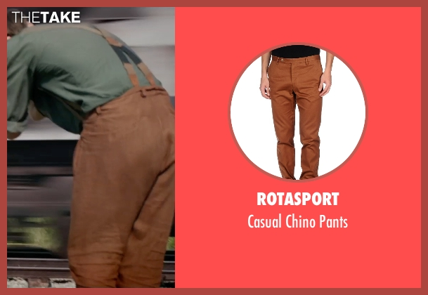 Rotasport brown pants from The Divergent Series: Insurgent seen with Ansel Elgort (Caleb Prior )
