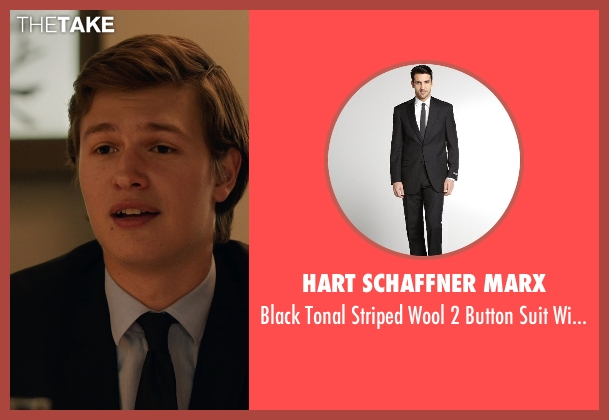 HART SCHAFFNER MARX black pants from The Fault In Our Stars seen with Ansel Elgort (Augustus Waters)