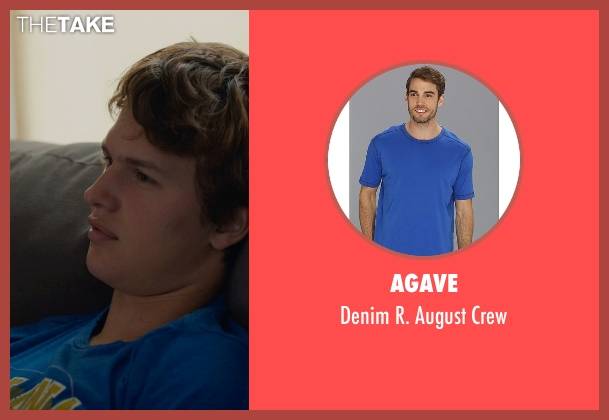 Agave blue crew from The Fault In Our Stars seen with Ansel Elgort (Augustus Waters)