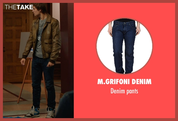 M.GRIFONI DENIM blue pants from The Fault In Our Stars seen with Ansel Elgort (Augustus Waters)