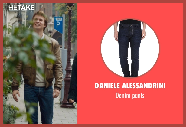 DANIELE ALESSANDRINI blue pants from The Fault In Our Stars seen with Ansel Elgort (Augustus Waters)