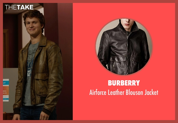 Burberry brown jacket from The Fault In Our Stars seen with Ansel Elgort (Augustus Waters)