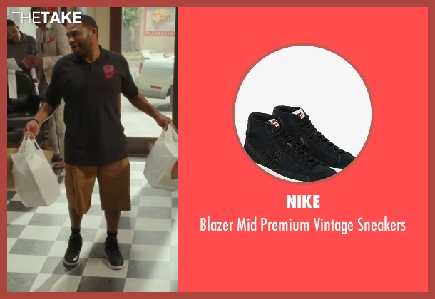 Nike black sneakers from Barbershop: The Next Cut seen with Anthony Anderson (J.D.)