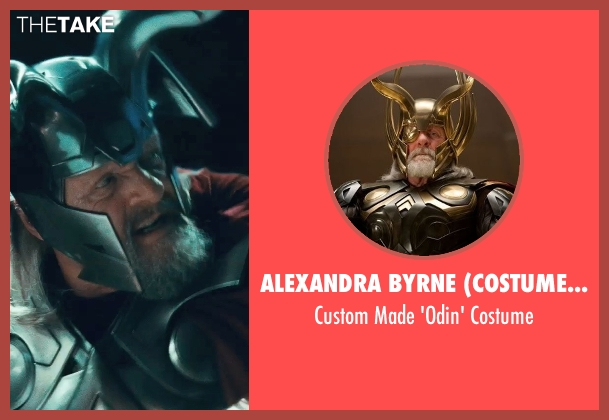 Alexandra Byrne (Costume Designer) costume from Thor seen with Anthony Hopkins (Odin)