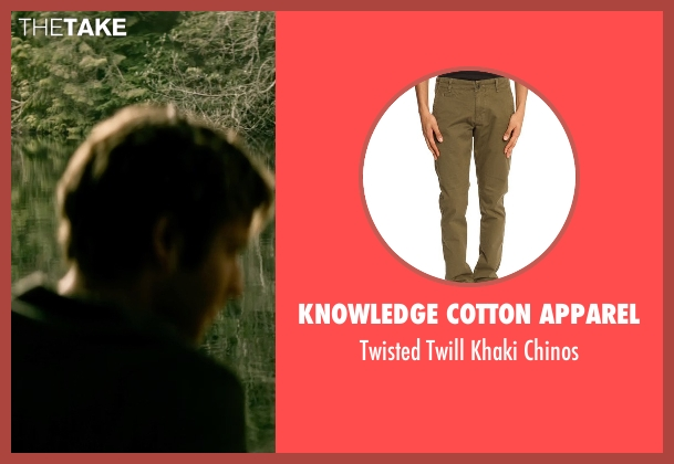 Knowledge Cotton Apparel brown chinos from The Age of Adaline seen with Anthony Ingruber (Young William)