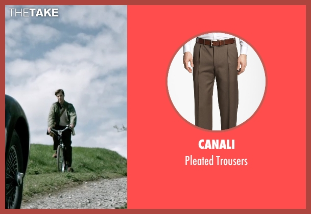 Canali brown trousers from The Age of Adaline seen with Anthony Ingruber (Young William)