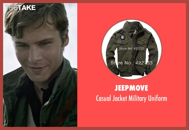 Jeepmove green uniform from The Age of Adaline seen with Anthony Ingruber (Young William)