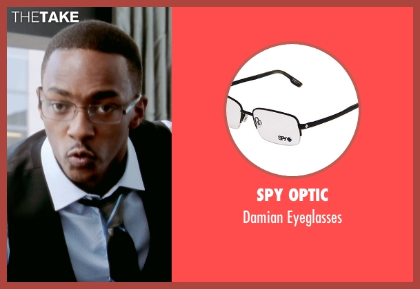 Spy Optic black eyeglasses from Black or White seen with Anthony Mackie (Jeremiah Jeffers)