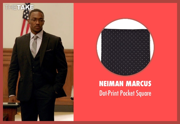 Neiman Marcus	 black square from Black or White seen with Anthony Mackie (Jeremiah Jeffers)