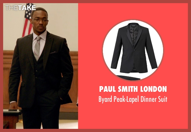 Paul Smith London black suit from Black or White seen with Anthony Mackie (Jeremiah Jeffers)