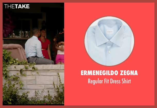 Ermenegildo Zegna blue shirt from Black or White seen with Anthony Mackie (Jeremiah Jeffers)