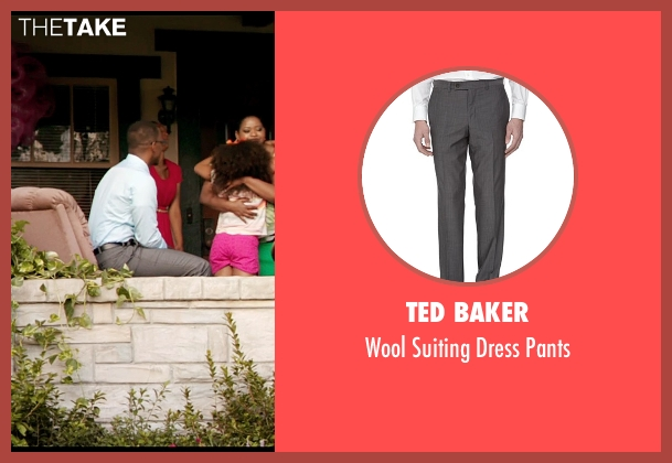 Ted Baker gray pants from Black or White seen with Anthony Mackie (Jeremiah Jeffers)