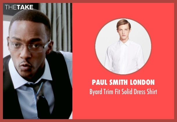 Paul Smith London white shirt from Black or White seen with Anthony Mackie (Jeremiah Jeffers)