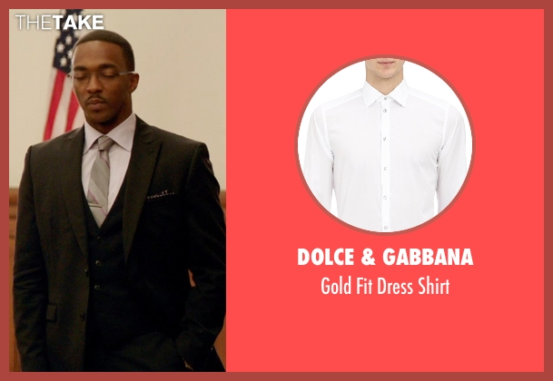 Dolce & Gabbana white shirt from Black or White seen with Anthony Mackie (Jeremiah Jeffers)