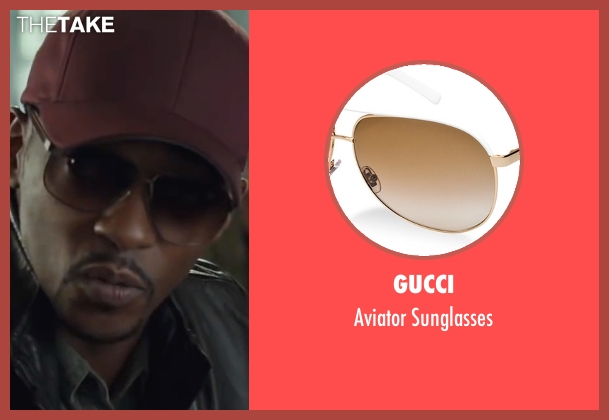 Gucci brown sunglasses from Captain America: Civil War seen with Anthony Mackie (Sam Wilson / Falcon)