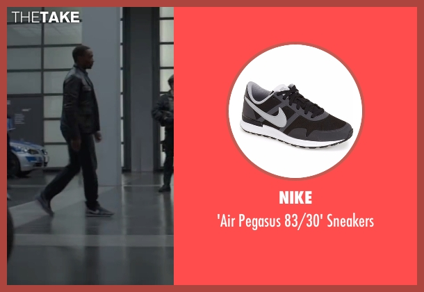 Nike gray sneakers from Captain America: Civil War seen with Anthony Mackie (Sam Wilson / Falcon)