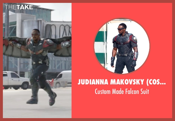 Judianna Makovsky (Costume Designer) suit from Captain America: Civil War seen with Anthony Mackie (Sam Wilson / Falcon)