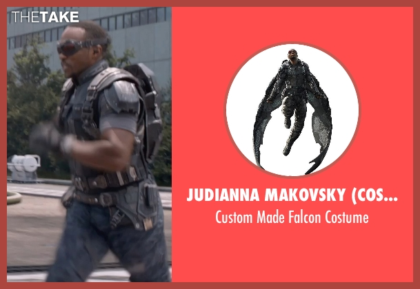 Judianna Makovsky (Costume Designer) costume from Captain America: The Winter Soldier seen with Anthony Mackie (Sam Wilson / Falcon)