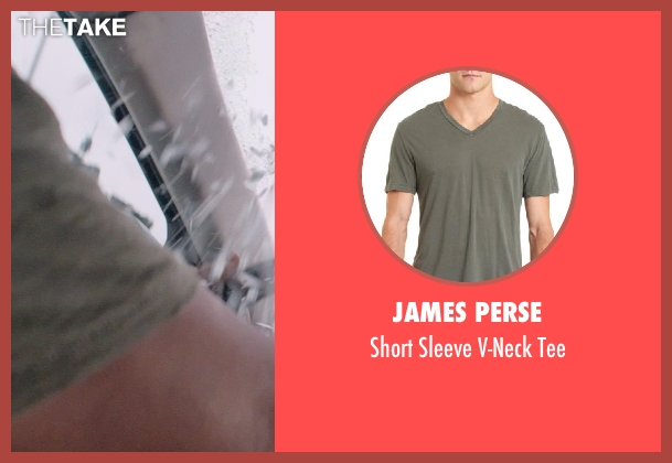 JAMES PERSE green tee from Captain America: The Winter Soldier seen with Anthony Mackie (Sam Wilson / Falcon)