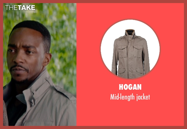 HOGAN jacket from Captain America: The Winter Soldier seen with Anthony Mackie (Sam Wilson / Falcon)