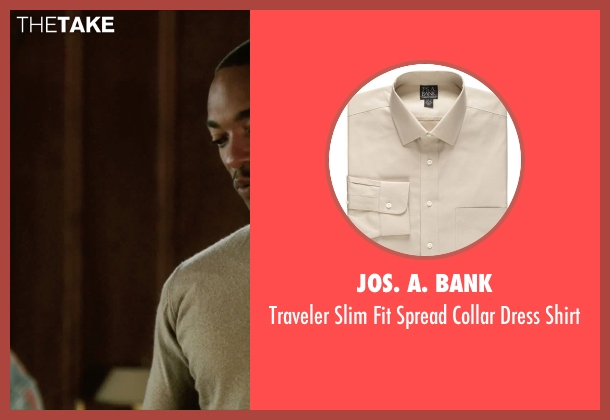 Jos. A. Bank beige shirt from Our Brand Is Crisis seen with Anthony Mackie (Ben)
