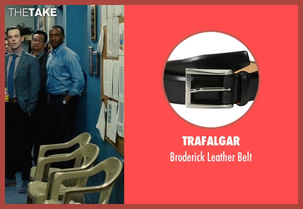 Trafalgar black belt from Our Brand Is Crisis seen with Anthony Mackie (Ben)