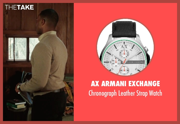 AX Armani Exchange black watch from Our Brand Is Crisis seen with Anthony Mackie (Ben)