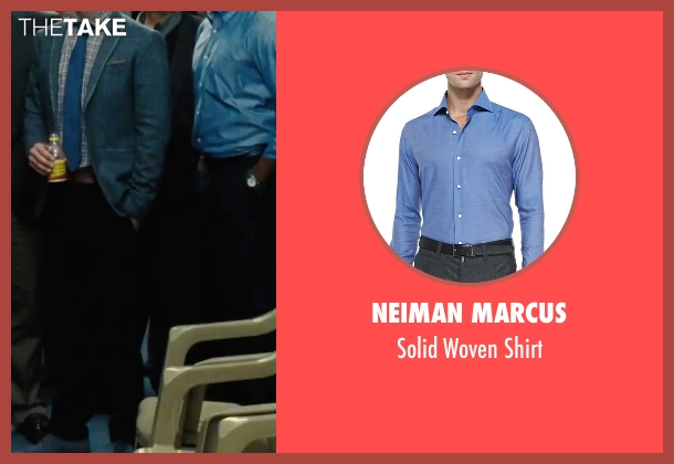 Neiman Marcus blue shirt from Our Brand Is Crisis seen with Anthony Mackie (Ben)