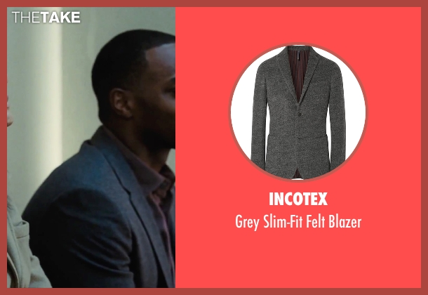 Incotex gray blazer from Our Brand Is Crisis seen with Anthony Mackie (Ben)