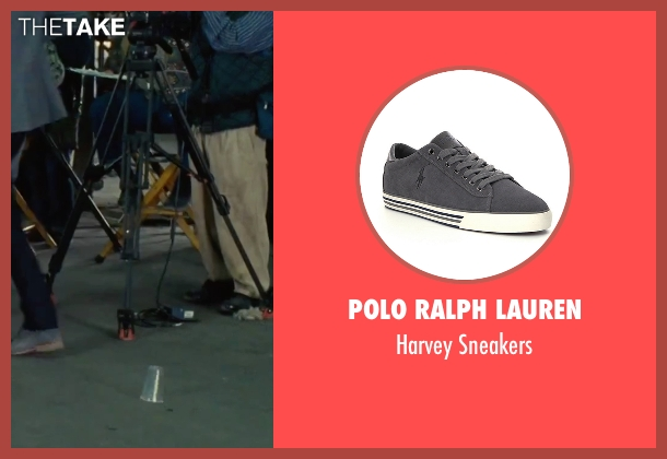 Polo Ralph Lauren gray sneakers from Our Brand Is Crisis seen with Anthony Mackie (Ben)