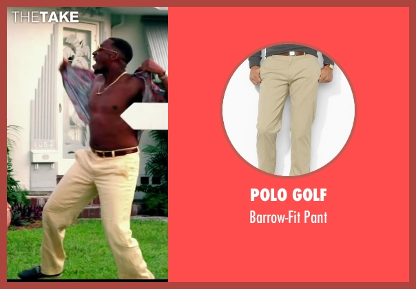 Polo Golf beige pant from Pain & Gain seen with Anthony Mackie (Adrian Doorbal)