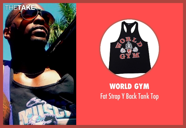 World Gym black top from Pain & Gain seen with Anthony Mackie (Adrian Doorbal)