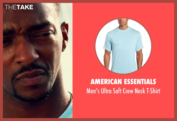 American Essentials blue t-shirt from Pain & Gain seen with Anthony Mackie (Adrian Doorbal)