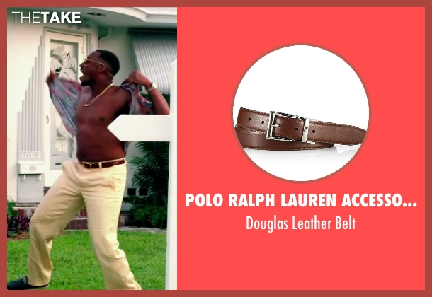 Polo Ralph Lauren Accessories brown belt from Pain & Gain seen with Anthony Mackie (Adrian Doorbal)