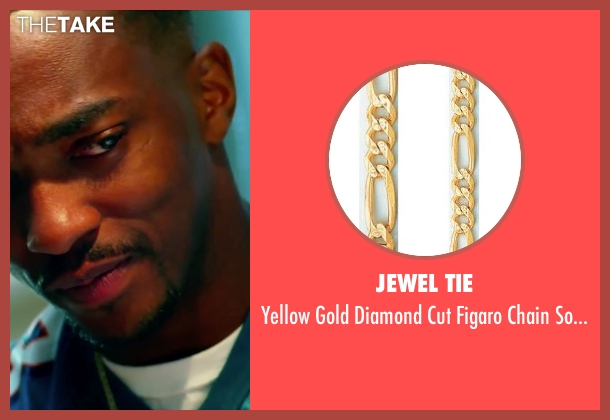 Jewel Tie gold necklace from Pain & Gain seen with Anthony Mackie (Adrian Doorbal)