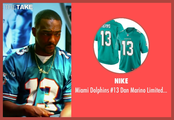 Nike green jersey from Pain & Gain seen with Anthony Mackie (Adrian Doorbal)