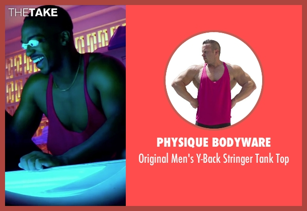 Physique Bodyware pink top from Pain & Gain seen with Anthony Mackie (Adrian Doorbal)