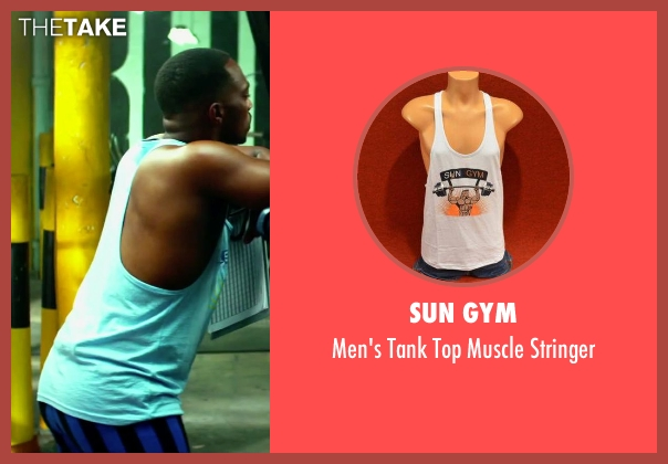 Sun Gym white stringer from Pain & Gain seen with Anthony Mackie (Adrian Doorbal)